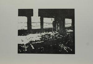 Výhled z koksovny, 2010, 35x50cm, Linoryt Náklad A.T.