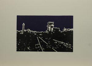 Za vápenkou, 2010, 35x50cm, Linoryt Náklad 6