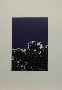Za vápenkou II, 2010, 50x35cm, Linoryt Náklad 7