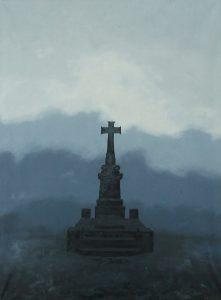 Hrob v krajině, 2011, olej na plátně, 80x60cm