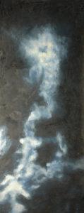 Bílá mlhovina, 2012, olej na plátně, 139,5x56cm