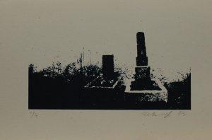 Dva osamocené hroby, 2012, 21,5×31,5cm, Sítotisk Náklad 4