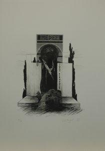 Médea, 2012, 50x35cm, Litografie Náklad 6