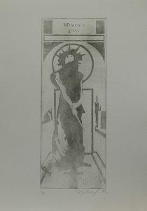 Memento gravi, 2012, 35,5x25cm, Akvatinta Náklad 2