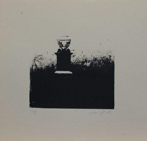 Osamělý hrob III, 2012, 33,5x35cm, Sítotisk Náklad 8