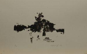 Pískování hrobu, 2012, 26×41,5cm, Sítotisk Náklad 4