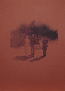 Přichází, 2012, 55×39,5cm, Sítotisk Náklad 8