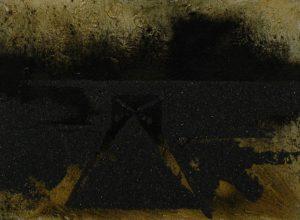 Brána II, 2013, uhel, pigmenty a olej na plátně, 30x40cm