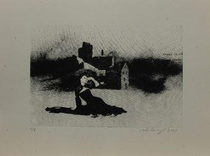 Dvě zříceniny, 2013, 29,5×39,5cm, Sítotisk Náklad 9