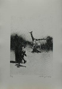Kostlivčí krámek, 2013, 42×29,5cm, Sítotisk Náklad 13