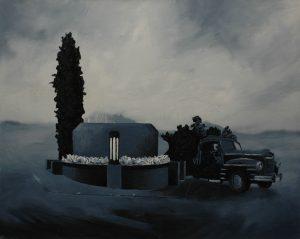 Múza funebráků, 2013, olej na plátně, 60×75 cm