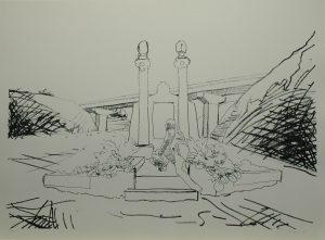Múza hřbitovní flóry, 2013, 70x100cm, Sítotisk Náklad 10