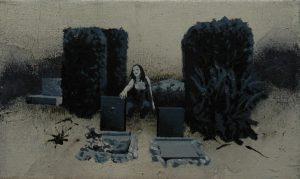 Múza urnových hrobů, 2013, olej a pigment na plátně, 30,5×50,5 cm