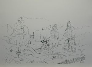 Múzy kremace, 2013, 70x100cm, Sítotisk Náklad 10