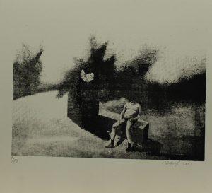 Muž bez hlavy, 2013, 29,5x32cm, Sítotisk Náklad 10