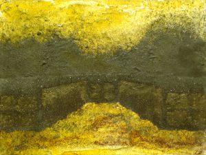 Nádvoří věznice, 2013, uhel, pigmenty a olej na plátně, 30x40cm