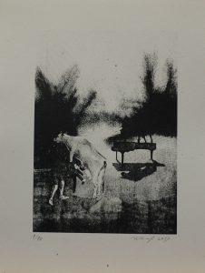 Nebezpečné dojení, 2013, 39,5×29,5cm, Sítotisk Náklad 10