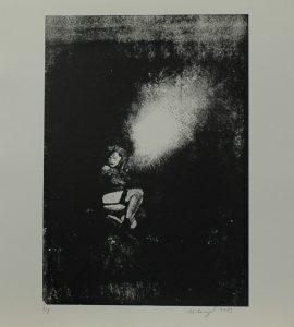Prostitutka v noci u cesty, 2013, 32x29cm, Sítotisk Náklad 8