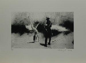 Studie stojky, 2013, 29,5x40cm, Sítotisk Náklad 9