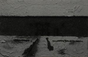 Vězeňská brána, 2013, uhel, pigmenty a akryl na plátně, 40x60cm