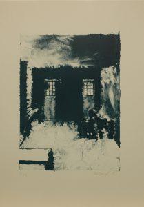 Vězeňská převlíkárna, 2013, 50x35cm, Litografie Náklad 12
