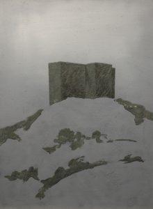Vězení na kopci, 2013, uhel, pigmenty a akryl na plátně, 80x60cm
