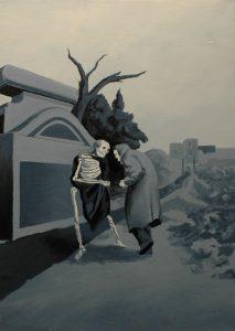 Bába, 2014, olej na plátně, 70x50cm