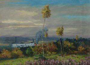 Černobyl, 2014, olej a kvaš na kartonu, 25x33cm