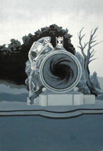 Erb Smrti, 2014, olej na plátně, 100x70cm