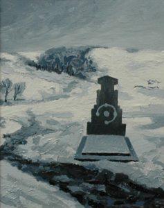 Kavánuv hrob, 2014, olej na sololitu, 22x18cm