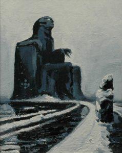 Malý idol, 2014, olej na sololitu, 22x18cm