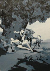 Marnost těla, 2014, olej na plátně, 70x50cm