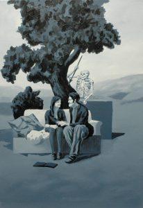 O zamilovaných, 2014, olej na plátně, 100x70cm