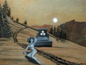 Opalování na horách, 2014, olej na sololitu, 50x66cm