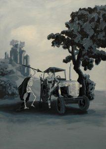Oráč, 2014, olej na plátně, 70x50cm