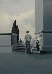 Policista, 2014, olej na plátně, 70x50cm