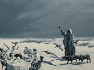 Poslední večeře, 2014, olej na plátně, 50x65cm