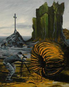 U divné dýně, 2014, olej na sololitu, 50x40cm