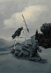 Voják, 2014, olej na plátně, 70x50cm