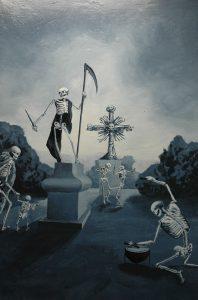 Vše kosti stejné, 2014, olej na plátně, 150x100cm