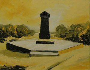 Žlutý hrob, 2014, olej na plátně, 20x30cm