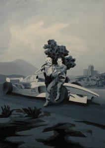 Závodník, 2014, olej na plátně, 70x50cm