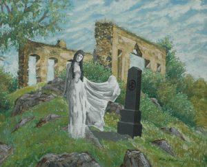 Zjevení, 2014, akryl a kvaš na kartonu, 34x41cm