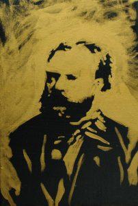 Antonín Leopold Dvořák, 2015, bronz a akryl na plátně, 30x20cm